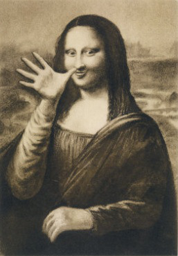 jocondes detounees - Page 8 Dadaism Mona Lisa